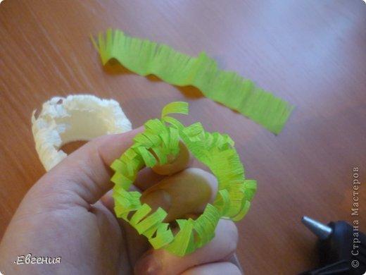 Мастер-класс Бумагопластика: Мой первый МК-Хризантемы  Бумага гофрированная. Фото 19
