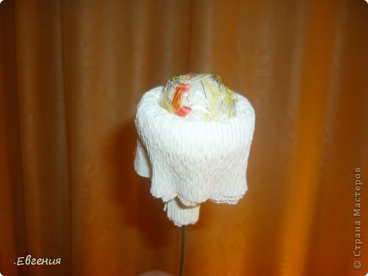 Мастер-класс Бумагопластика: Мой первый МК-Хризантемы  Бумага гофрированная. Фото 8