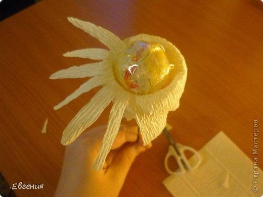 Мастер-класс Бумагопластика: Мой первый МК-Хризантемы  Бумага гофрированная. Фото 10