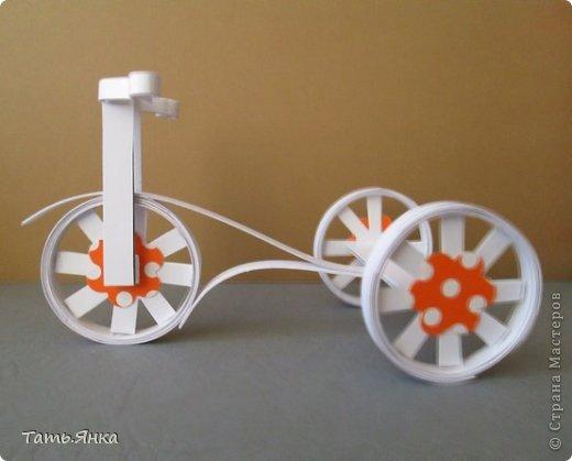 Сделать велосипед своими руками из бумаги