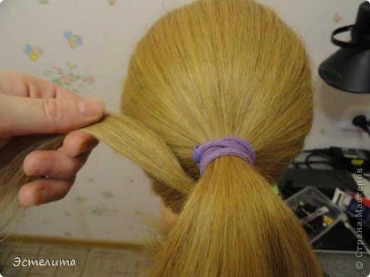 Мастер-класс, Прическа Плетение: МК шишечки-колосок. Фото 3