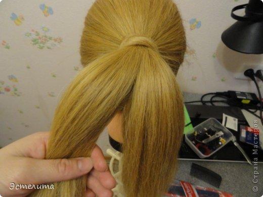 Мастер-класс, Прическа Плетение: МК шишечки-колосок. Фото 5