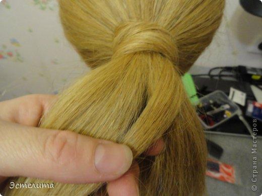 Мастер-класс, Прическа Плетение: МК шишечки-колосок. Фото 6
