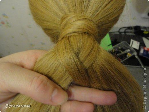 Мастер-класс, Прическа Плетение: МК шишечки-колосок. Фото 7