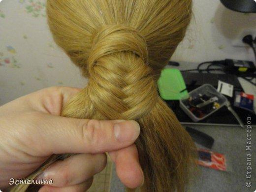 Мастер-класс, Прическа Плетение: МК шишечки-колосок. Фото 8