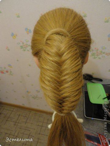 Мастер-класс, Прическа Плетение: МК шишечки-колосок. Фото 9