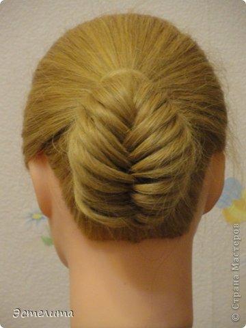 Мастер-класс, Прическа Плетение: МК шишечки-колосок. Фото 12