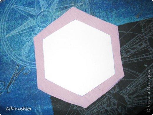 Интерьер, Мастер-класс Пэчворк: Одеяло из шестиугольников сшито и простегано вручную. Картон, Нитки, Ткань Дебют. Фото 5