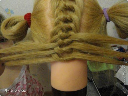 Мастер-класс, Прическа Плетение: МК узлового плетения. Фото 11