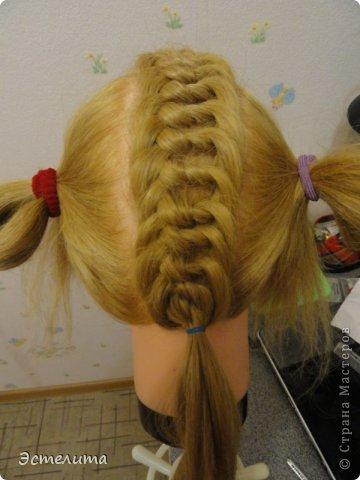 Мастер-класс, Прическа Плетение: МК узлового плетения. Фото 12