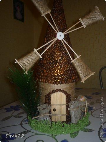 Поделки мельница из макарон