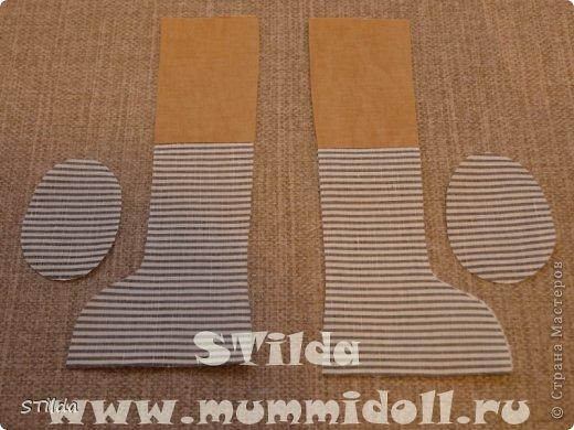 Куклы, Мастер-класс, Поделка, изделие Конструктор, Шитьё: Как изготовить обувь на плоской подошве для текстильной куклы Ткань. Фото 3