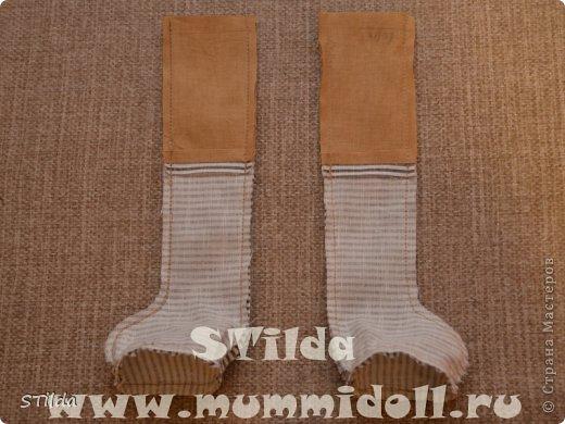 Куклы, Мастер-класс, Поделка, изделие Конструктор, Шитьё: Как изготовить обувь на плоской подошве для текстильной куклы Ткань. Фото 6