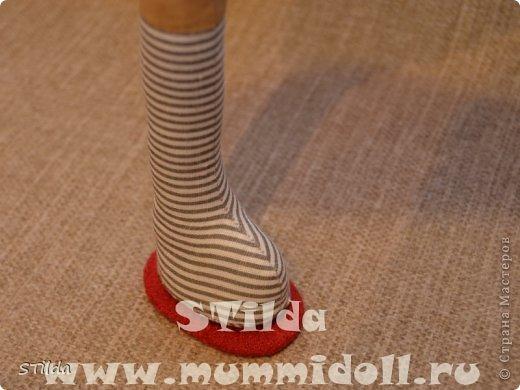 Куклы, Мастер-класс, Поделка, изделие Конструктор, Шитьё: Как изготовить обувь на плоской подошве для текстильной куклы Ткань. Фото 10