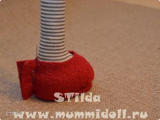 Куклы, Мастер-класс, Поделка, изделие Конструктор, Шитьё: Как изготовить обувь на плоской подошве для текстильной куклы Ткань. Фото 12
