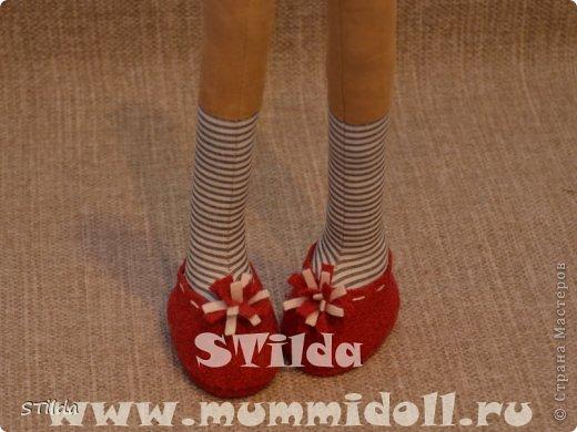Куклы, Мастер-класс, Поделка, изделие Конструктор, Шитьё: Как изготовить обувь на плоской подошве для текстильной куклы Ткань. Фото 15