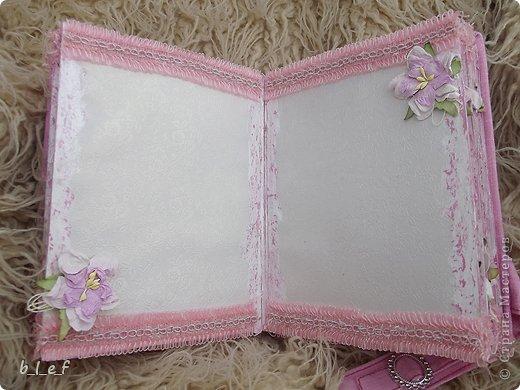 Поделка, изделие, Скрапбукинг: Розовый мини альбом. Фото 4