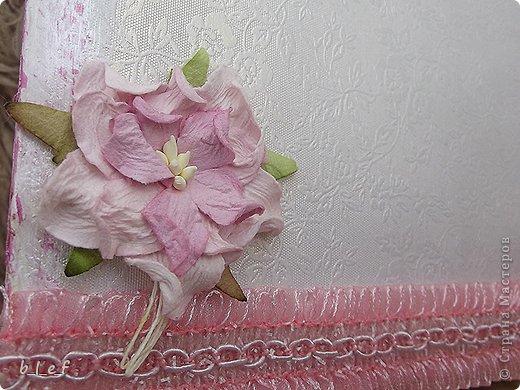 Поделка, изделие, Скрапбукинг: Розовый мини альбом. Фото 5