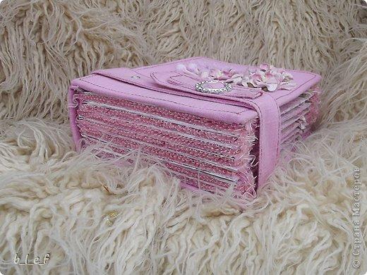 Поделка, изделие, Скрапбукинг: Розовый мини альбом. Фото 7