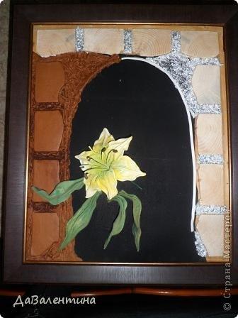 """Мастер-класс Коллаж: Картина из кожи """"Букет Лилий"""". Мастер-класс. Кожа. Фото 24"""