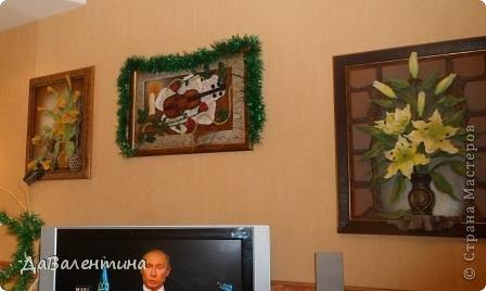 """Мастер-класс Коллаж: Картина из кожи """"Букет Лилий"""". Мастер-класс. Кожа. Фото 6"""