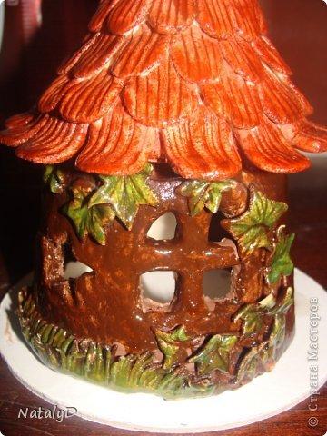 Мастер-класс Лепка: Светильнички-сувенирчики. Домик для гномика Тесто соленое. Фото 37