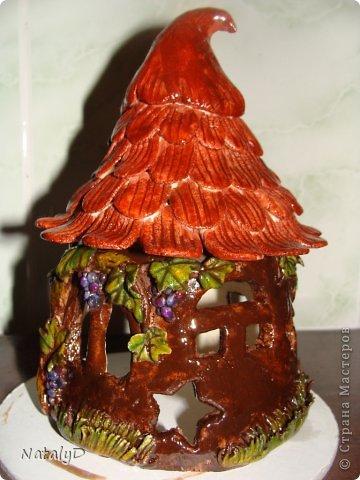 Мастер-класс Лепка: Светильнички-сувенирчики. Домик для гномика Тесто соленое. Фото 39