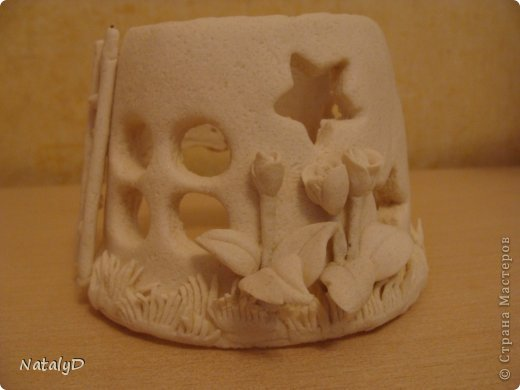 Мастер-класс Лепка: Светильнички-сувенирчики. Домик для гномика Тесто соленое. Фото 41