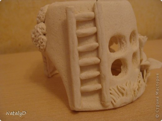 Мастер-класс Лепка: Светильнички-сувенирчики. Домик для гномика Тесто соленое. Фото 40
