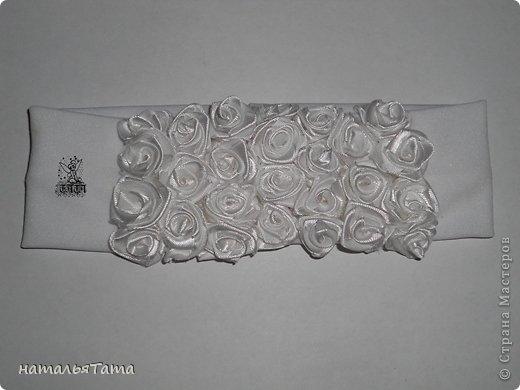 Украшение Цумами Канзаши: розочки... Ленты. Фото 1