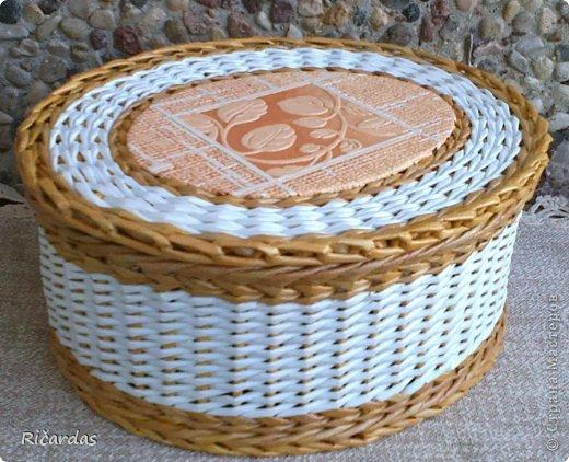 Мастер-класс, Поделка, изделие Плетение: Послойное плетение (как я заканчиваю плетение) Бумага газетная, Картон, Трубочки бумажные. Фото 1