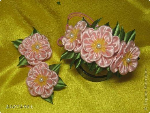 Украшение Цумами Канзаши: Мои работы Ленты, Ткань. Фото 3