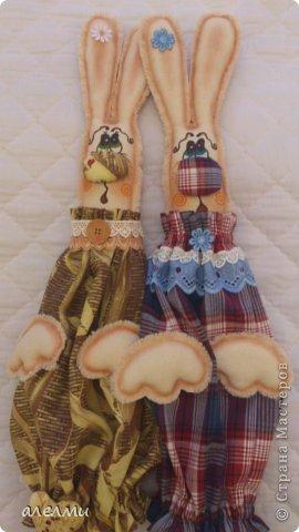Интерьер, Куклы Шитьё: ЗАЙКИ-ПАКЕТНИЦЫ!!! Ткань. Фото 1