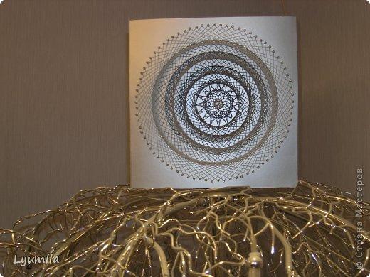 Мастер-класс Бумажный туннель Изонить Бумажный туннель опутанный изонитью Бисер Картон Нитки