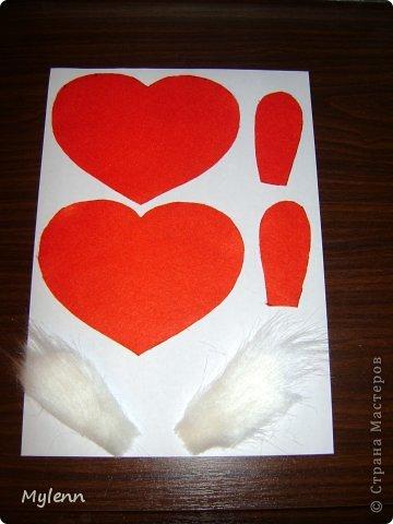Мастер-класс Шитьё: Ко Дню Всех Влюблённых:)Маленький МК Фетр Валентинов день. Фото 4