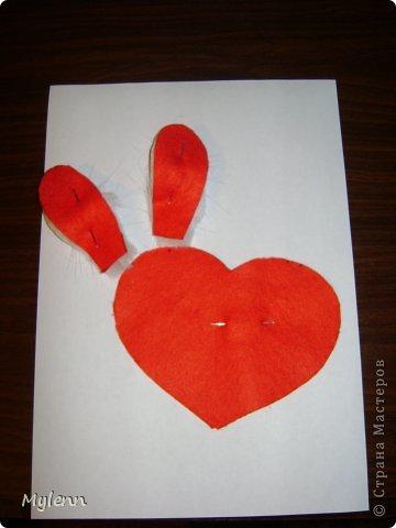 Мастер-класс Шитьё: Ко Дню Всех Влюблённых:)Маленький МК Фетр Валентинов день. Фото 5