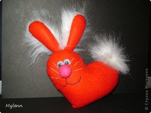 Мастер-класс Шитьё: Ко Дню Всех Влюблённых:)Маленький МК Фетр Валентинов день. Фото 1