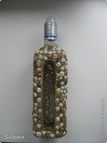 Декор предметов, Мастер-класс Лепка: Декор стеклянных сосудов камешками и улитками МК Материал природный, Тесто соленое. Фото 7