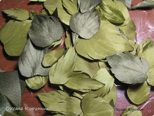 """Мастер-класс Вышивка: МК """"Листья для розы"""" Ленты. Фото 1"""