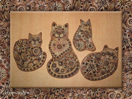 Поделка, изделие Лепка: Пряничные котики Тесто соленое День рождения. Фото 1
