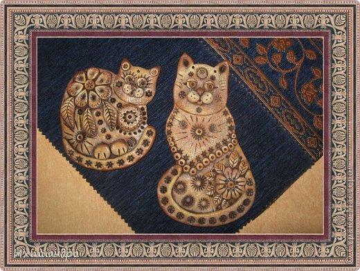 Поделка, изделие Лепка: Пряничные котики Тесто соленое День рождения. Фото 7