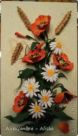 Картина, панно, рисунок Квиллинг: Цветочки Бумага. Фото 1