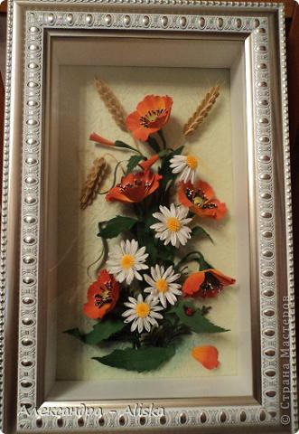 Картина, панно, рисунок Квиллинг: Цветочки Бумага. Фото 4