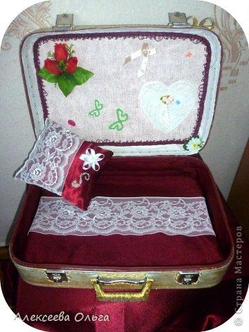 Декор предметов Декупаж: Чемодан Бусинки, Краска, Материал бросовый. Фото 4