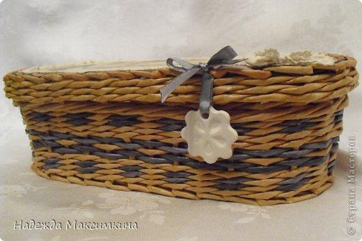 Поделка, изделие Плетение: Винтаж. Бумага газетная Валентинов день. Фото 5
