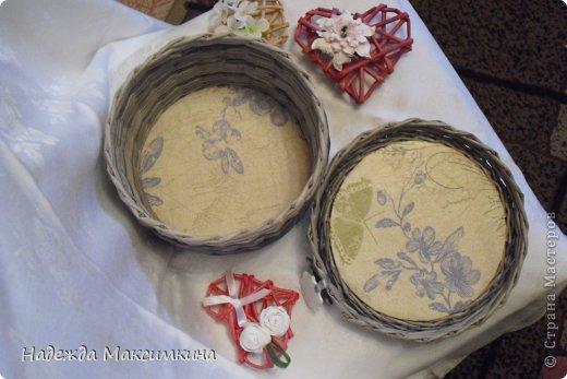 Поделка, изделие Плетение: Винтаж. Бумага газетная Валентинов день. Фото 2