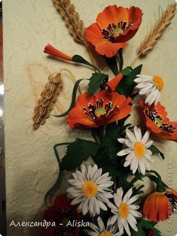 Картина, панно, рисунок Квиллинг: Цветочки Бумага. Фото 2