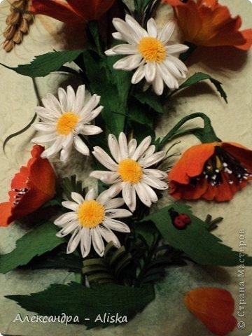 Картина, панно, рисунок Квиллинг: Цветочки Бумага. Фото 3