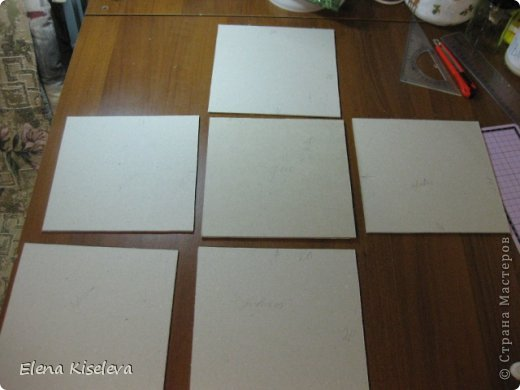 Мастер-класс: Коробочки для хранения салфеток. МК. Бумага, Картон, Клей, Ткань. Фото 3