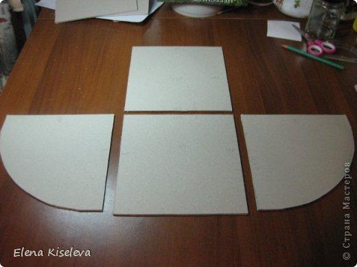 Мастер-класс: Коробочки для хранения салфеток. МК. Бумага, Картон, Клей, Ткань. Фото 5